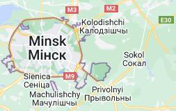 Kart over Minsk Hviterussland