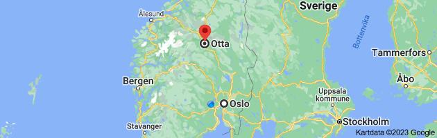 Kart fra Oslo til Otta, 2670