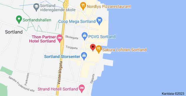 Kart over Torggata 19, 8400 Sortland